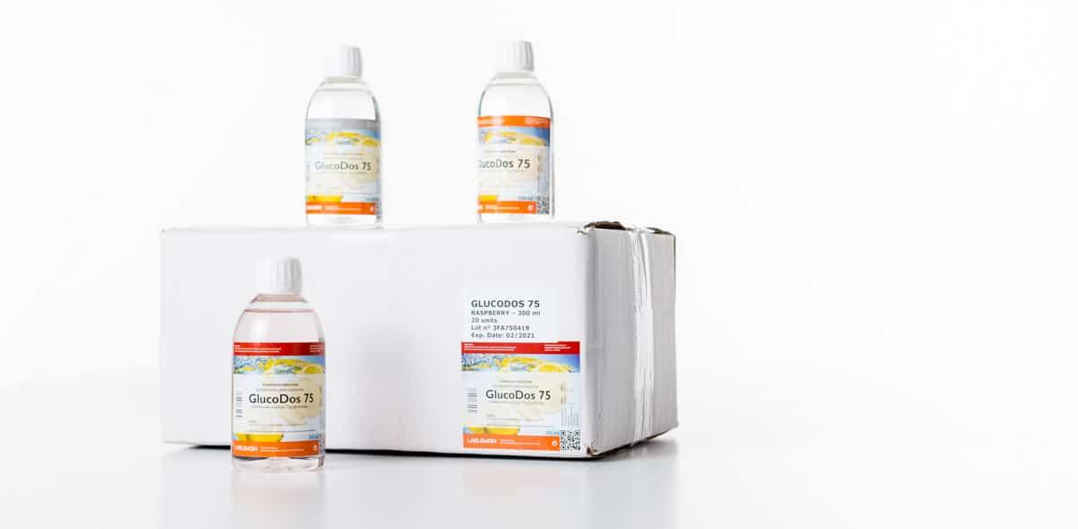 GlucoDos 75 tuoteperhe valmistetaan allergeenivapaassa tuotantoympäristössä-4591. Glukoosijuoma ja allergeenivapaa tuotantoympäristö, kyllä!